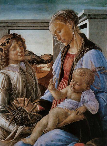 439px-Botticelli_-_Madone_de_l'Eucharistie